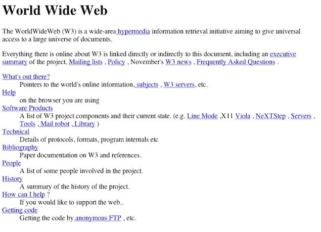 世界で最初のWeb Page